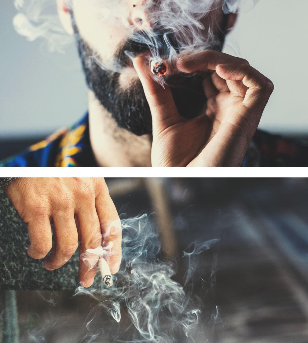 Wiet- versus tabaksrook